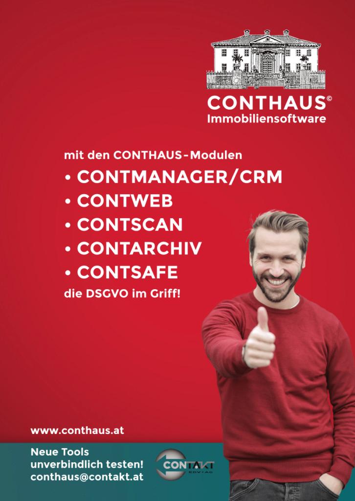 Immobilienverwaltung mit dem CONTHAUS Programm