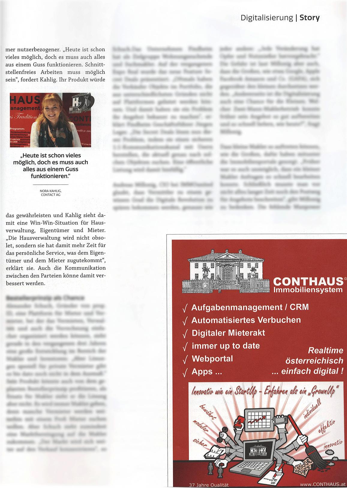 CONTHAUS im Immobilienmagazin Seite 2